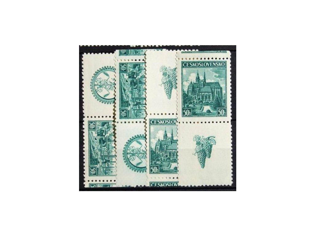 1939, 50h Plzeň a Košice, kupony, Nr.344-45K, **