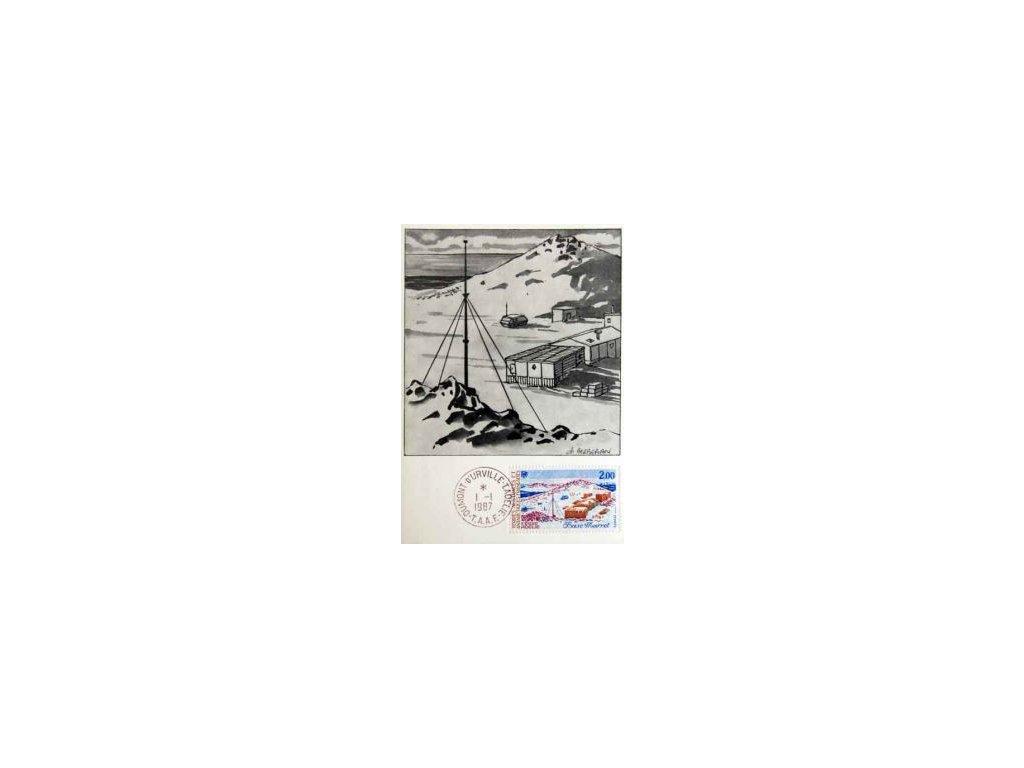 Antarktické území, 1987, DR Dumomt 1.1., Carte Maxima