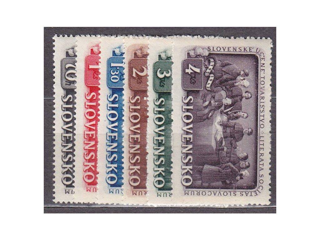 1942, 70h-4Ks Tovarišstvo, série, Nr.75-80, **, ilustrační foto