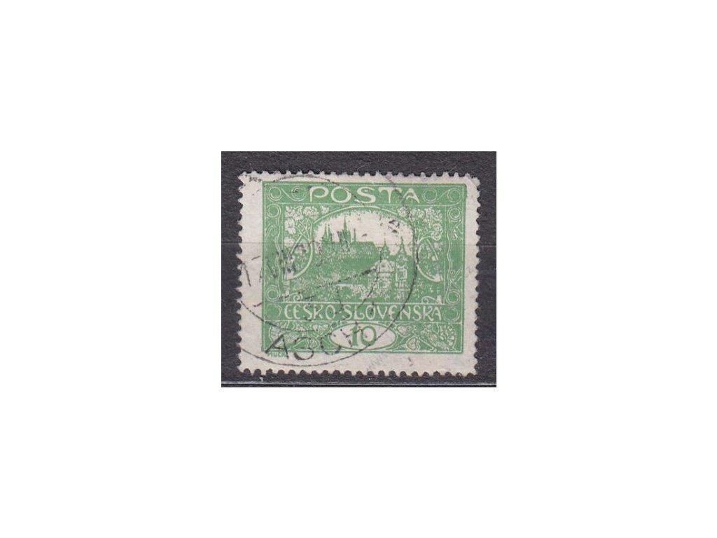 10h zelená, Řz.13 3/4, rámečkový typ, Nr.6C, raz.