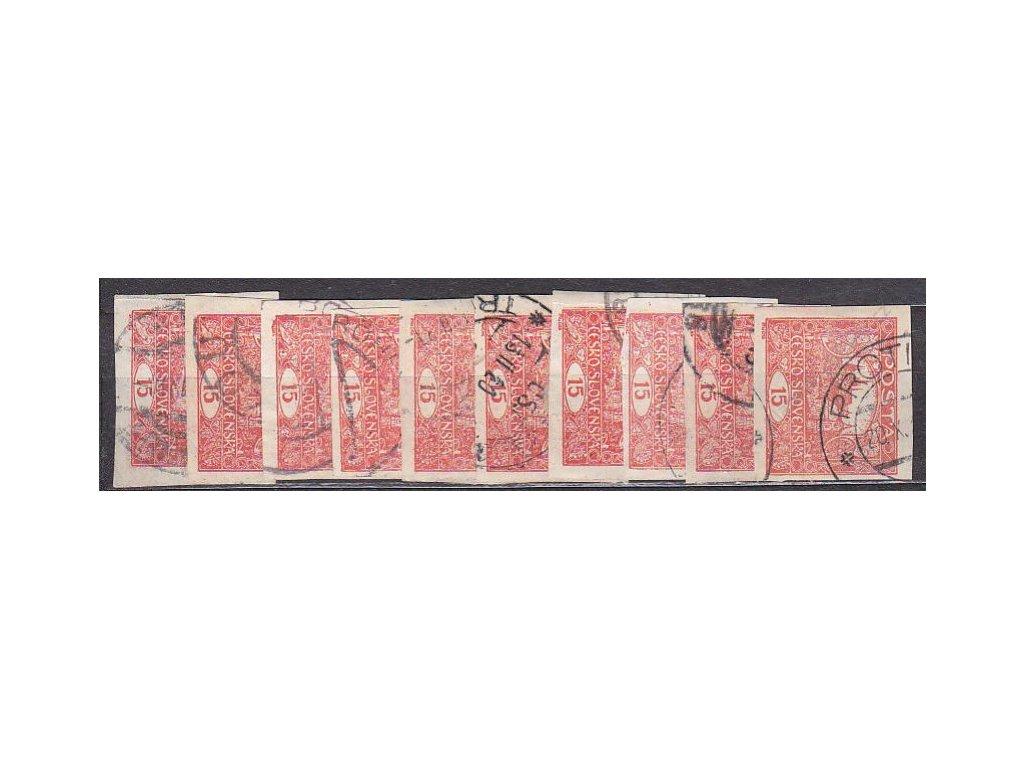 15h cihlově červená, 10 ks, vše příčkový typ, Nr.7