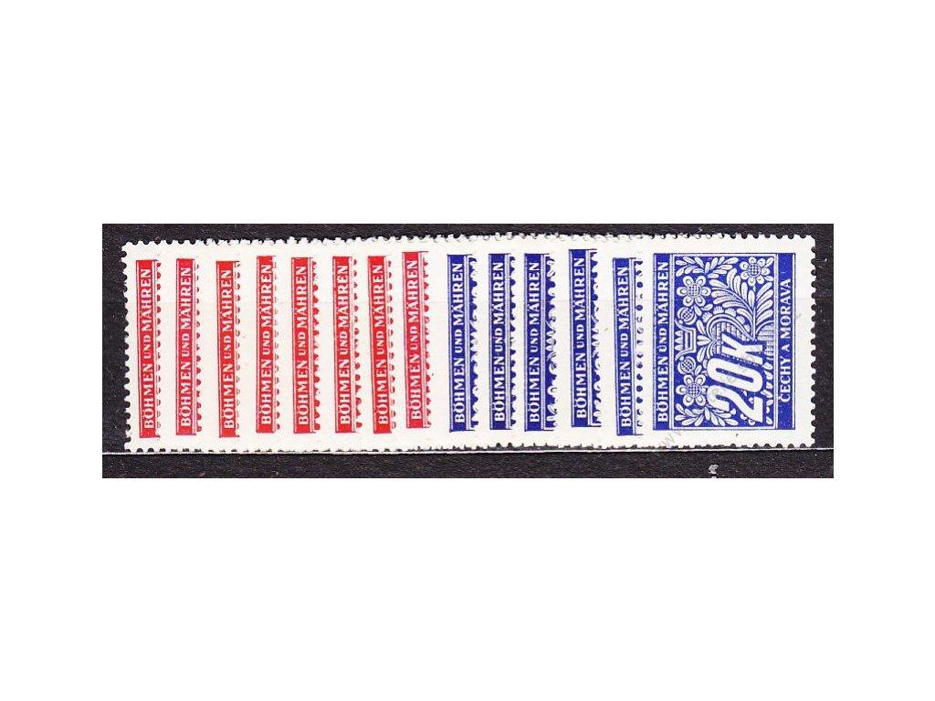 1939, 5h-20K Doplatní, série, Nr.DL1-14, **