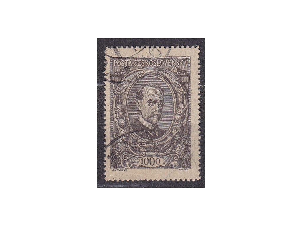 1000h hnědá, DV - čára u nosu, Nr.142, razítkovaná, ilustrační foto