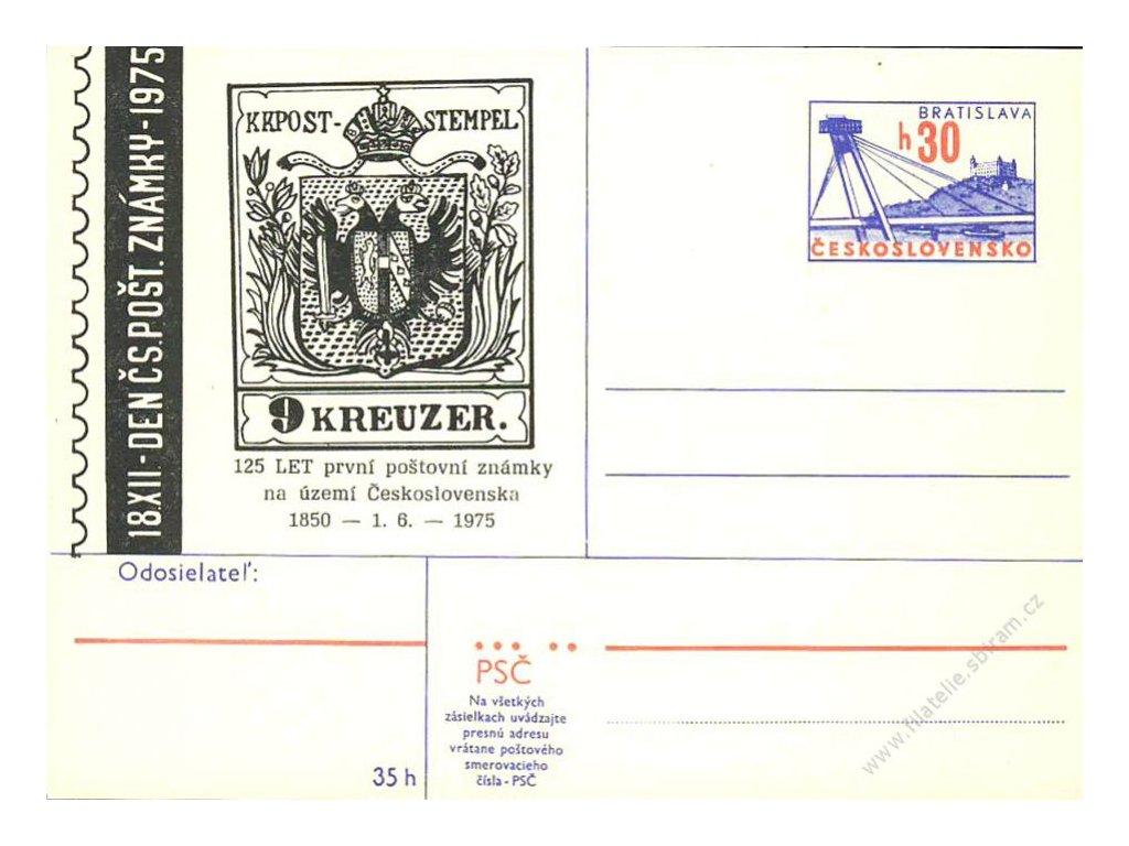 1975, 125 let první poštovní známky