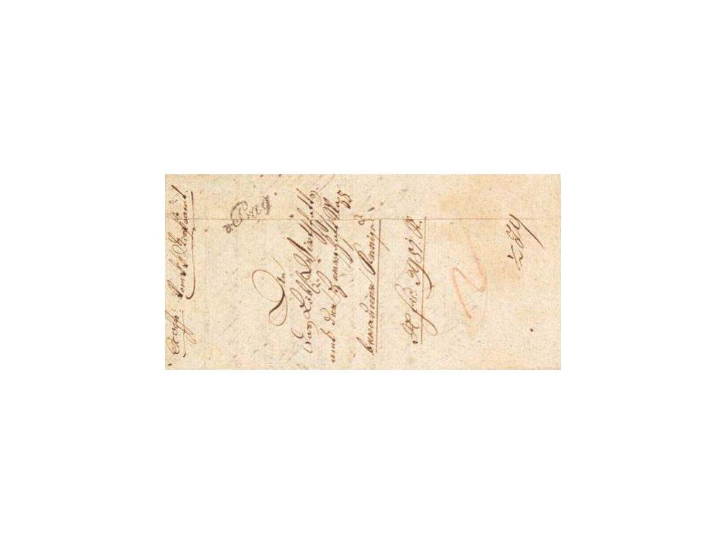 1820, v.Prag, skládaný dopis, špatná jakost