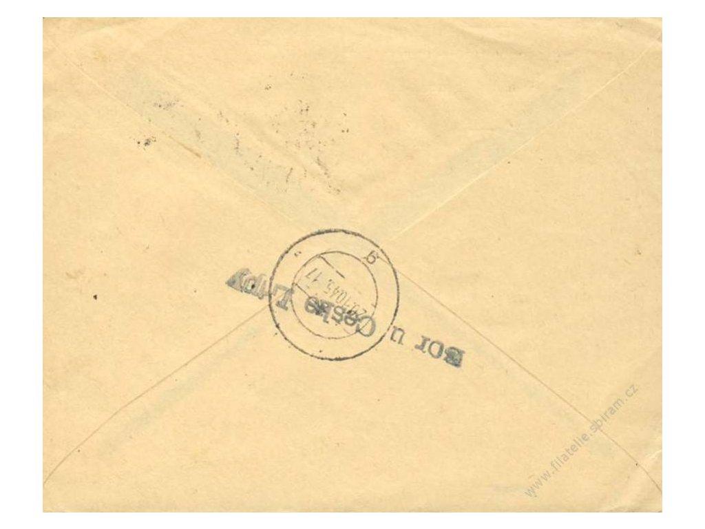 Bor u České Lípy, 1945, firemní dopis z Francie