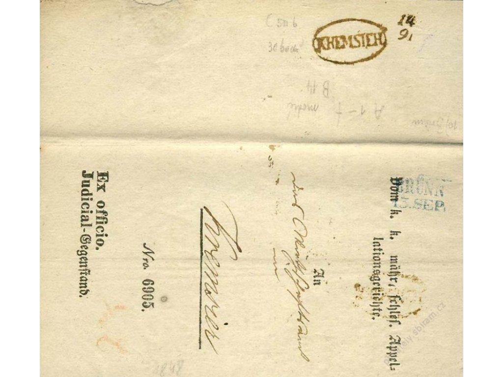 Brunn (modré razítko) + Kremsier z roku 1848