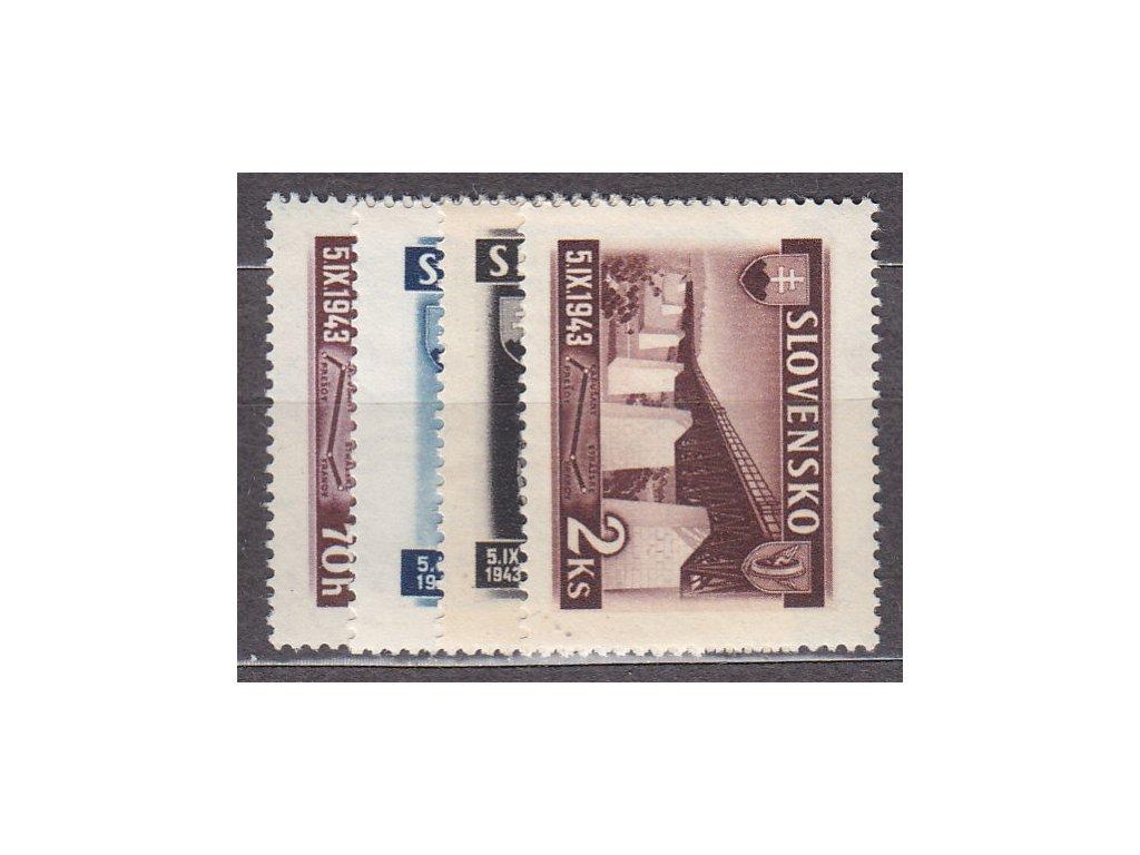 1943, 70h-2Ks Železniční, série, Nr.90-3, **, ilustrační foto