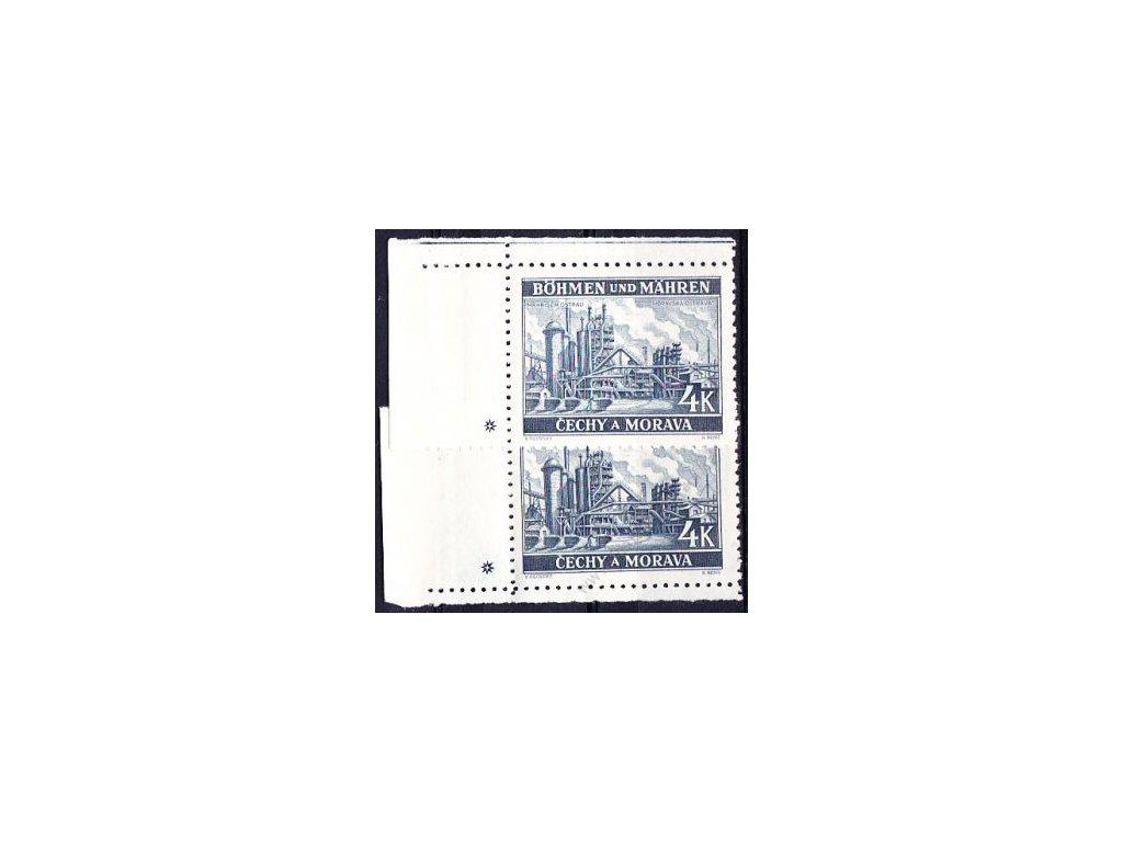 4K Ostrava, levý dolní a horní roh. kus, varianta křížek, Nr.37, **