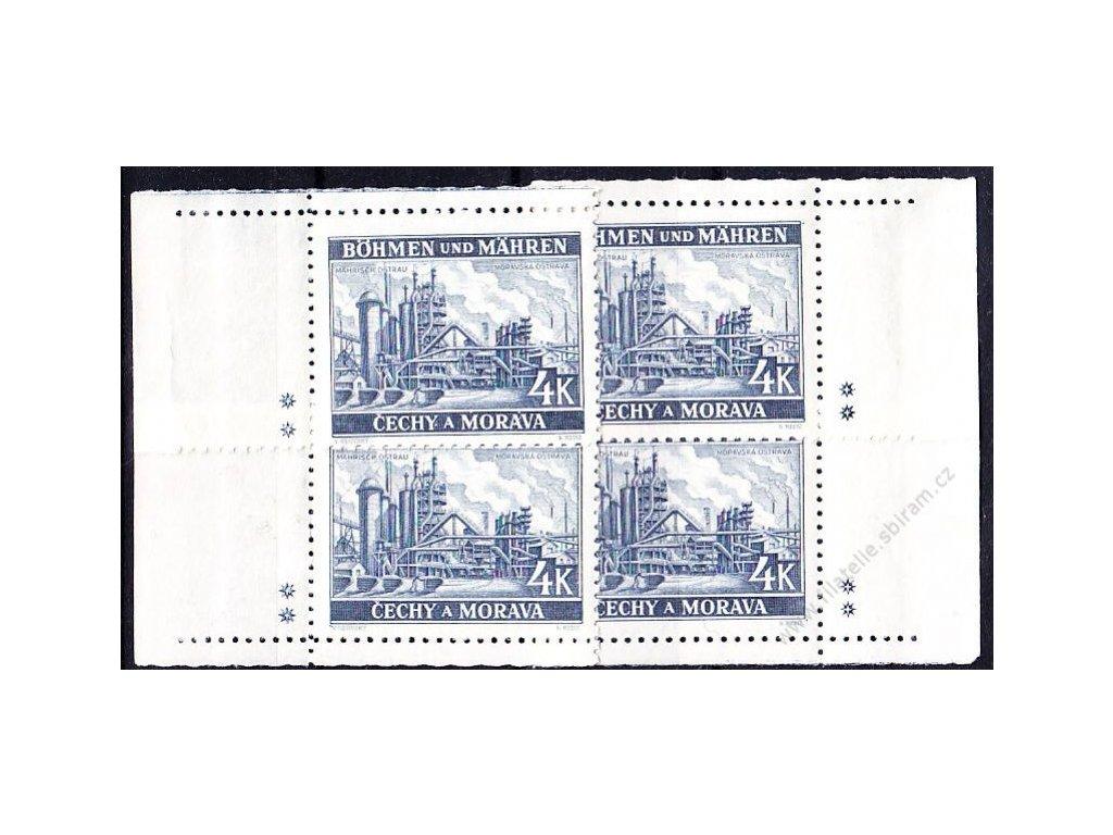 4K Ostrava, roh. miniatura, varianta 2 křížky, Nr.37, **