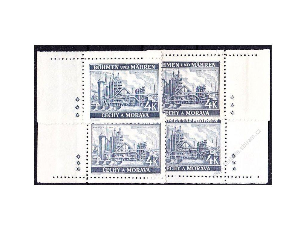 4K Ostrava, roh. miniatura, varianta 3 křížky, Nr.37, **