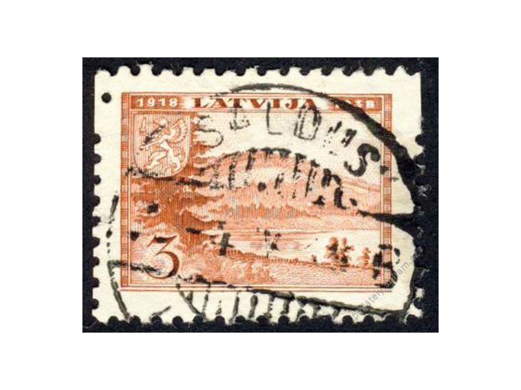 Latvija, 1938, 3S Gaisingberg, MiNr.264, razítko