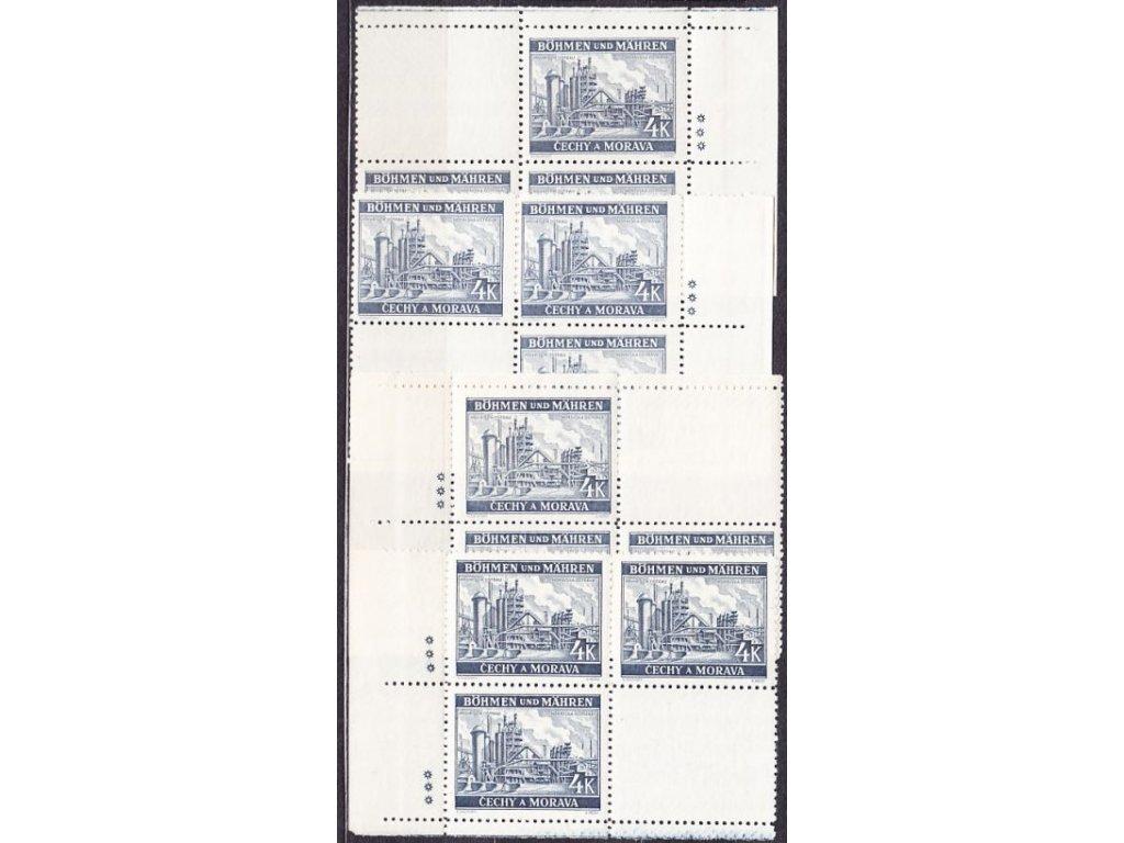 1939, 4K Ostrava, rohová miniatura, 3 hvězdičky, Nr.37, **