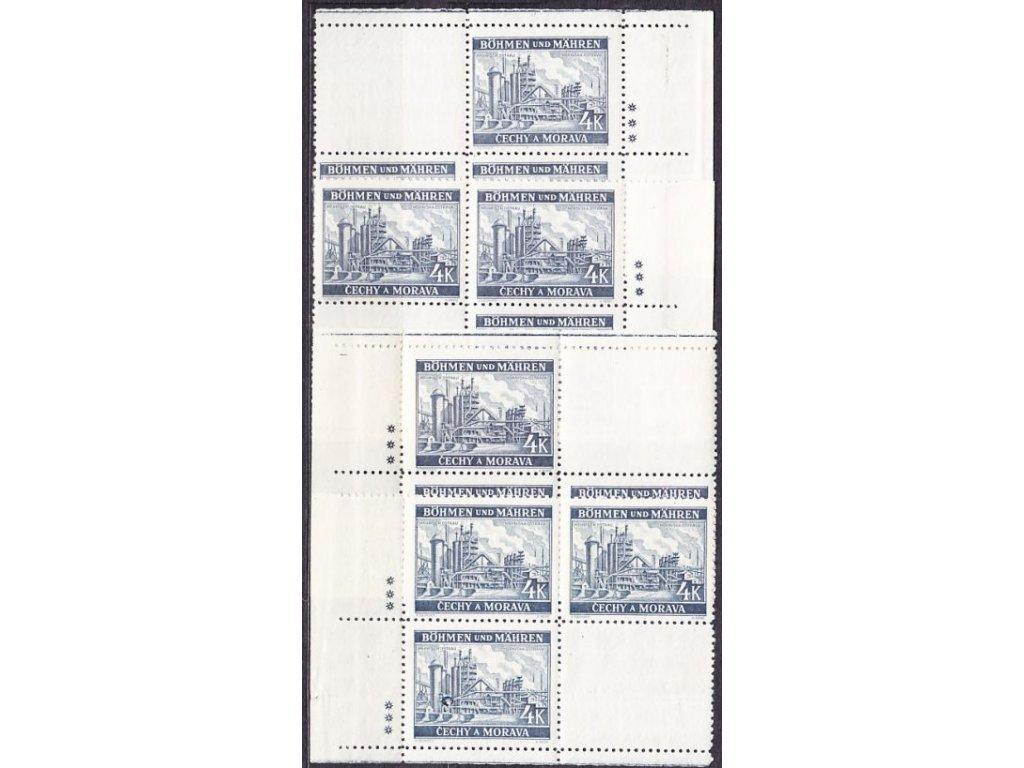 1939, 4K Ostrava, rohová miniatura, 3 křížky, Nr.37, **