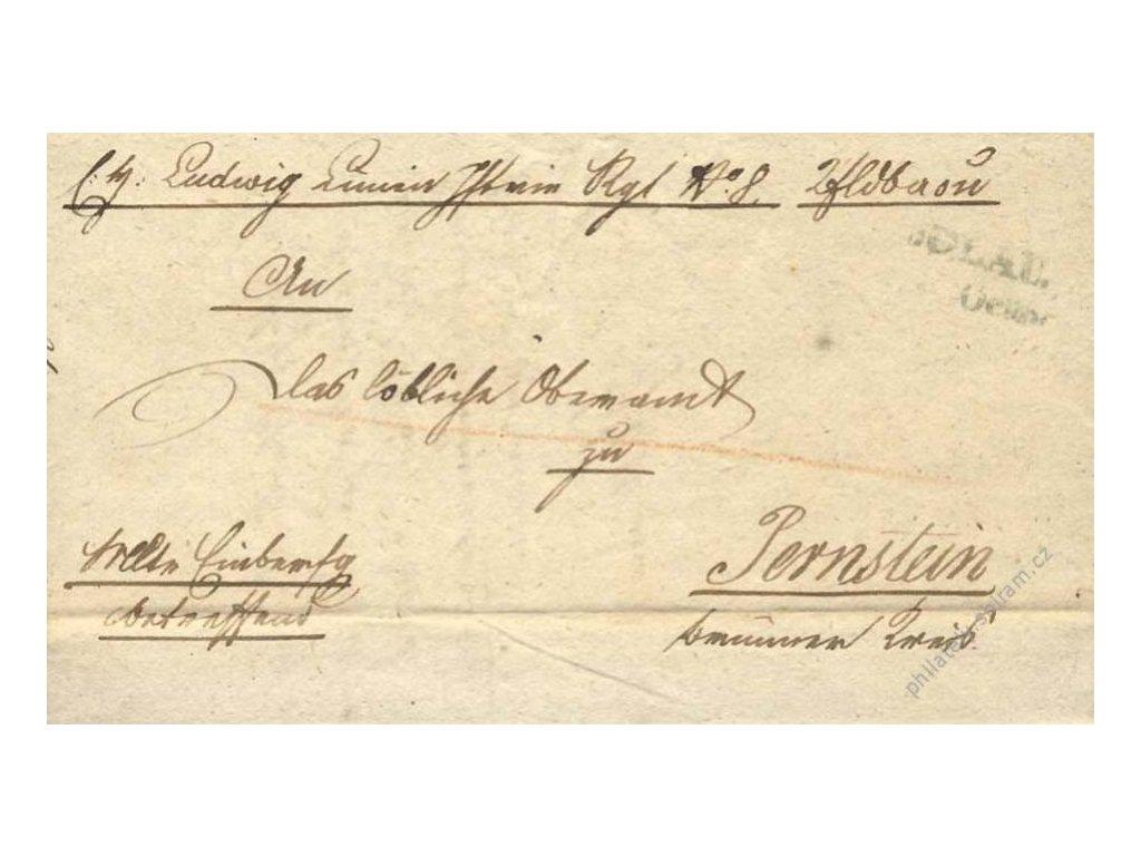 1845, Iglau, skládaný vojenský dopis