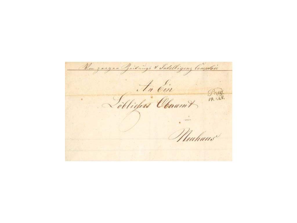 1849, Prag, skládaný dopis