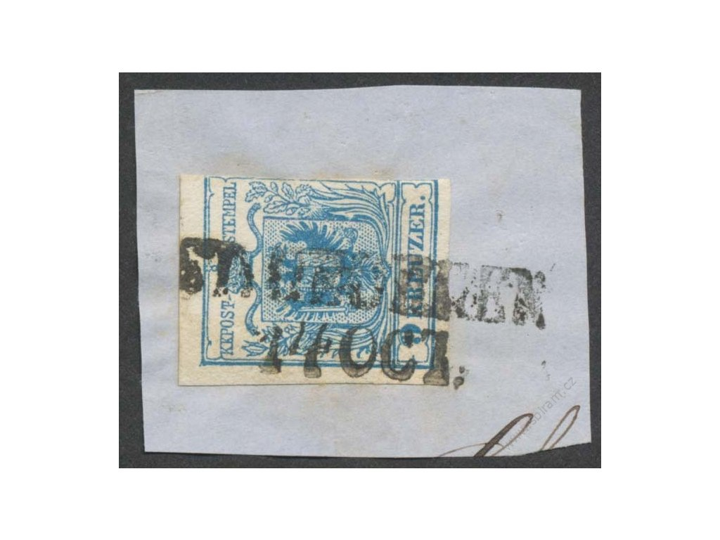 1850, 9Kr Znak, výstřižek, DR neurčeno, MiNr.5