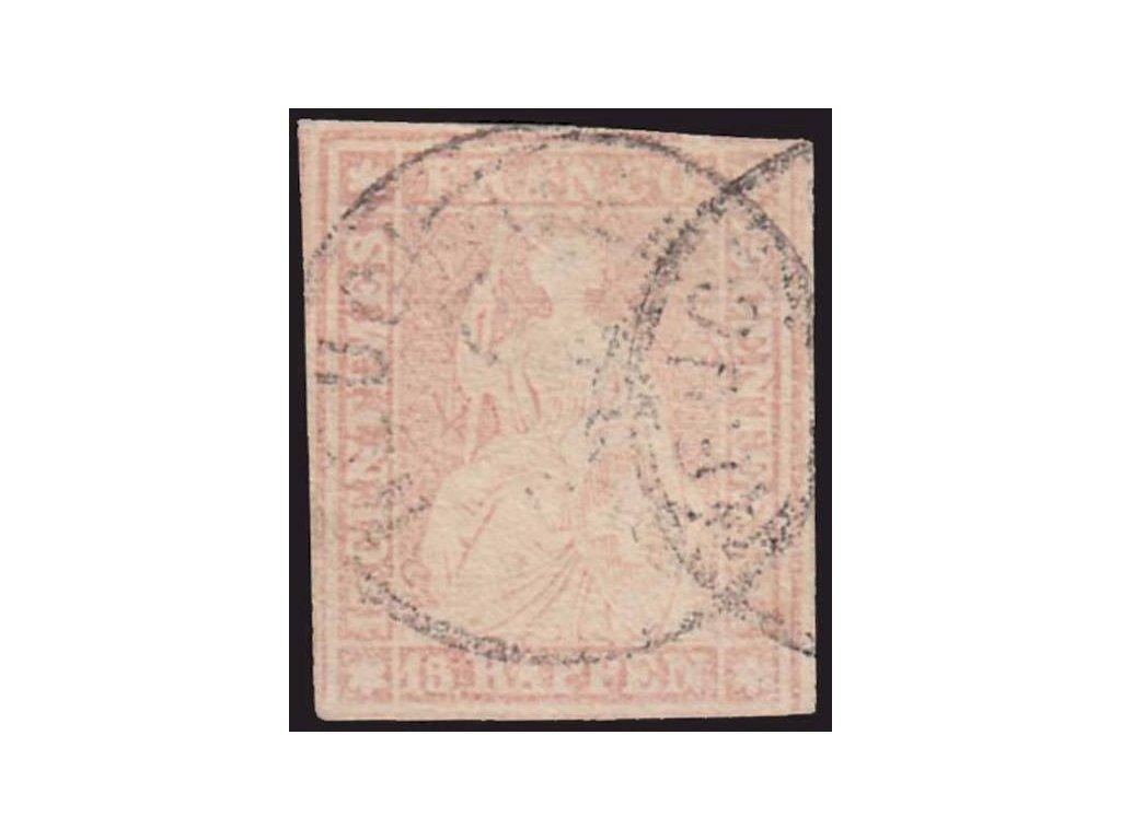 1854, 15Rp Helvetia, MiNr.15I, razítkované