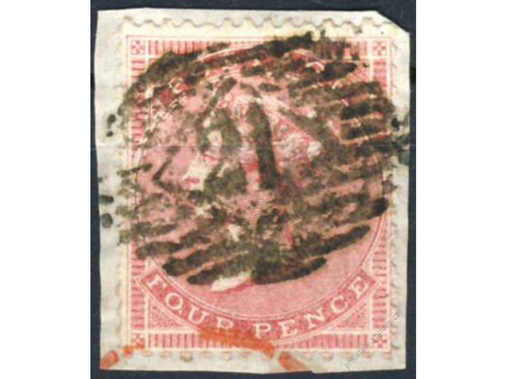 1855, 4P Viktoria, výstřižek, MiNr.13Z