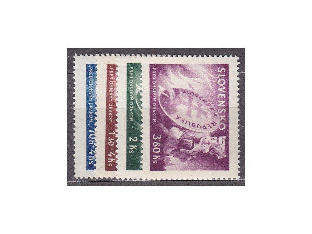 1944, 70h-3.80Ks Před ohnivým drakem, série, Nr.115-18, **, ilustrační foto