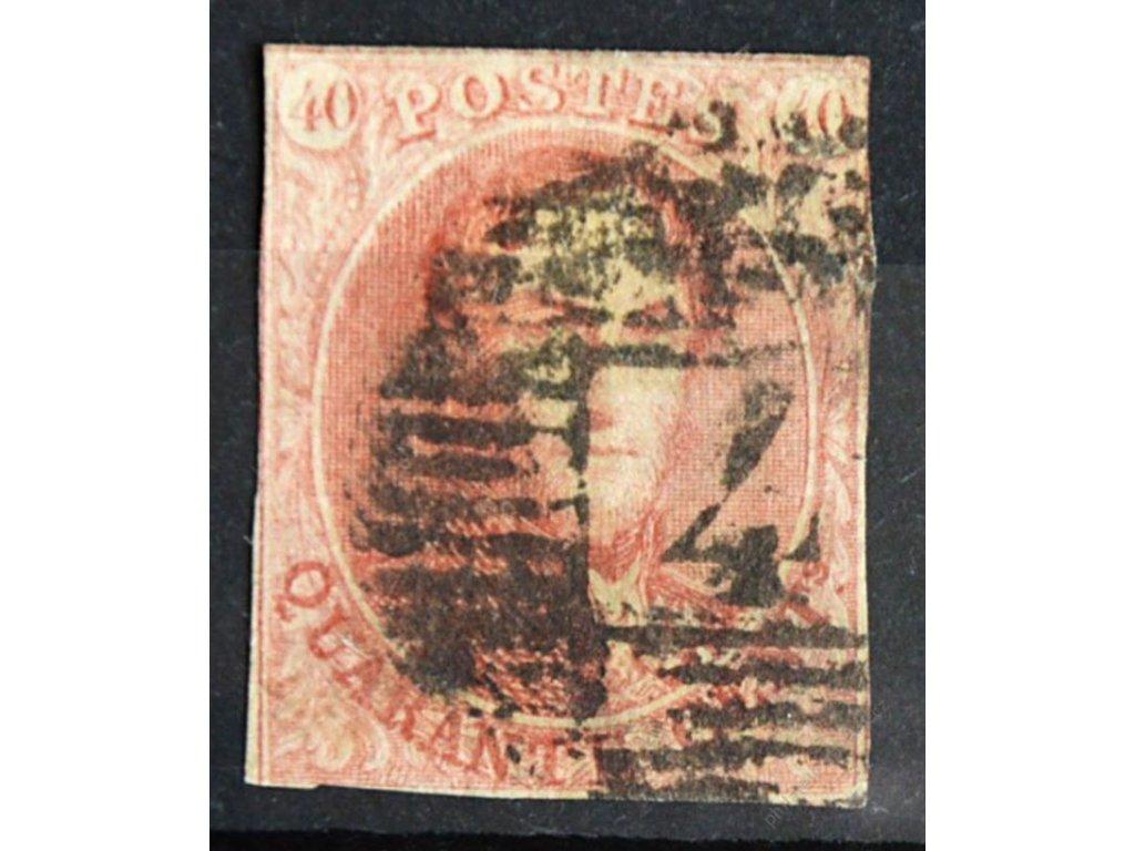 1858, 40C Leopold, běžné střihy, těžší razítko