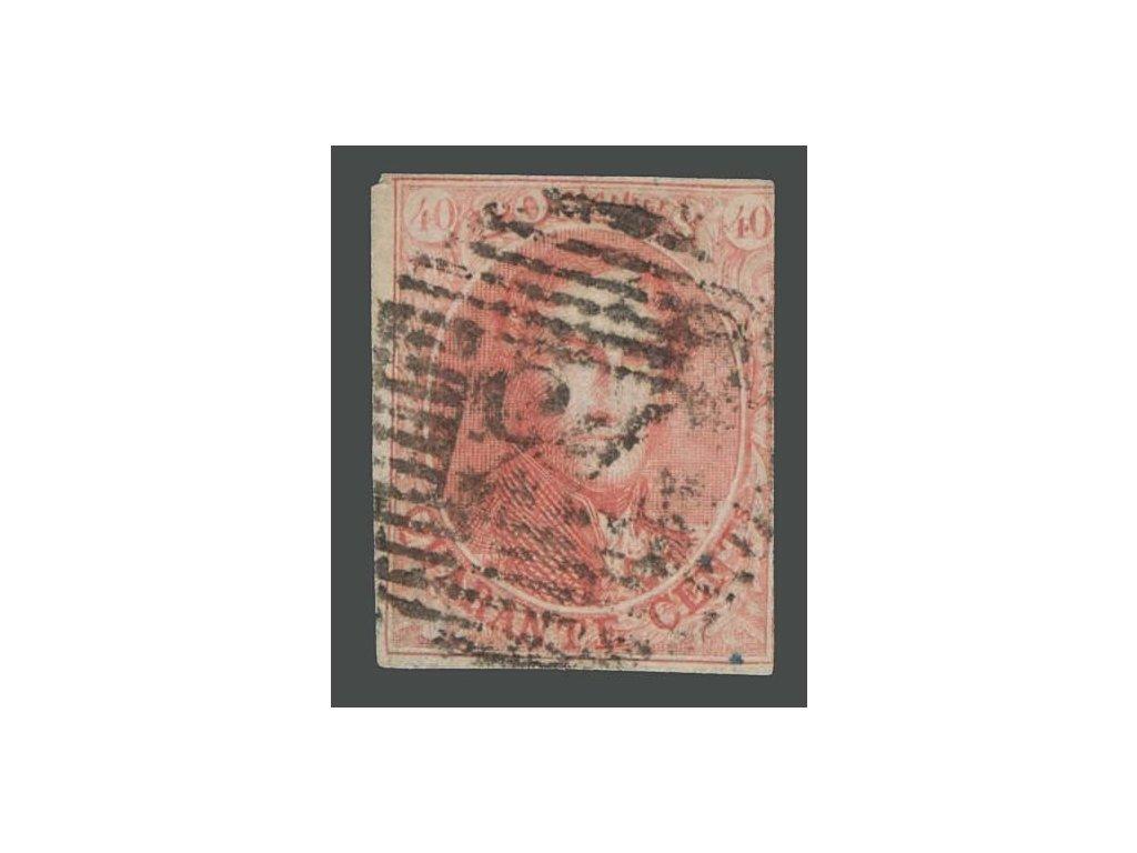 1858, 40C Leopold, MiNr.9I, razítkované