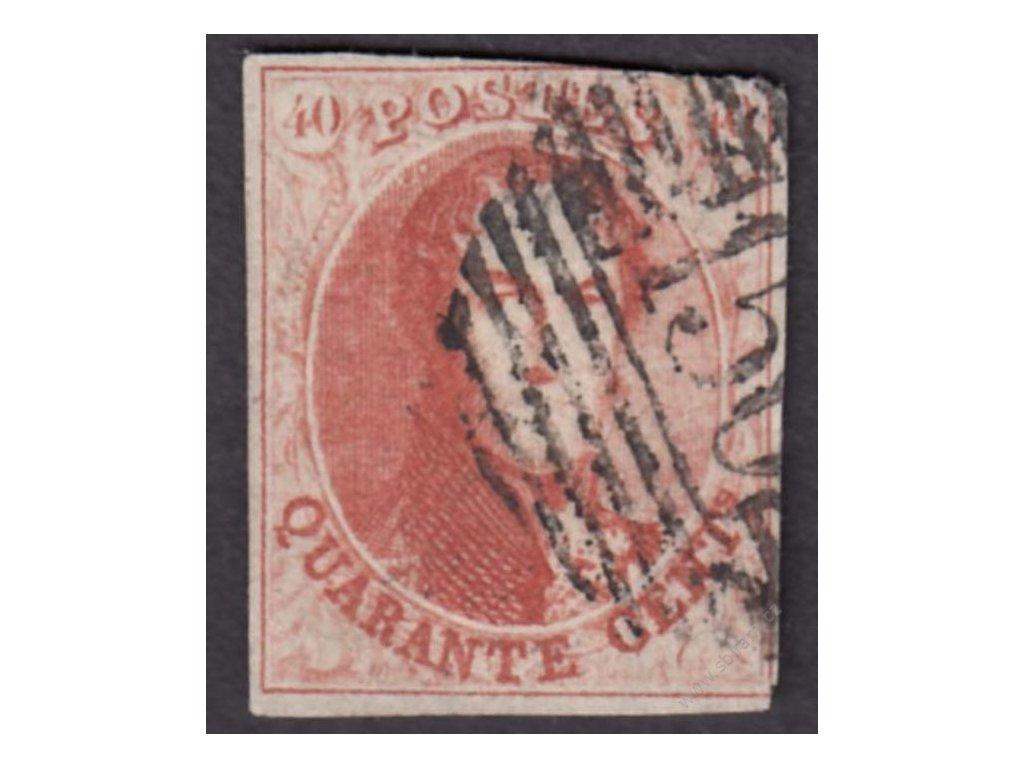 1858, 40C Leopold, MiNr.9, razítkované, dv