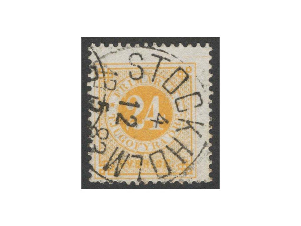 1872, 24Ö žlutá, MiNr.23B, razítkované