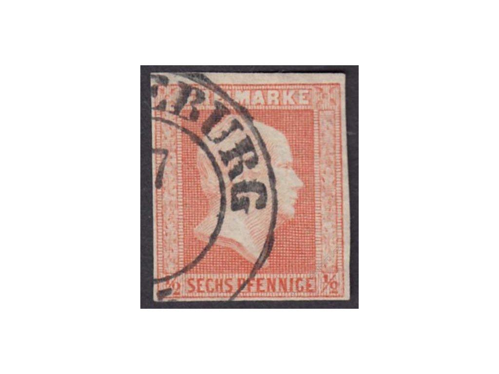 Prusko, 1859, 1/2Sgr Vilém, razítkované, lehký lom