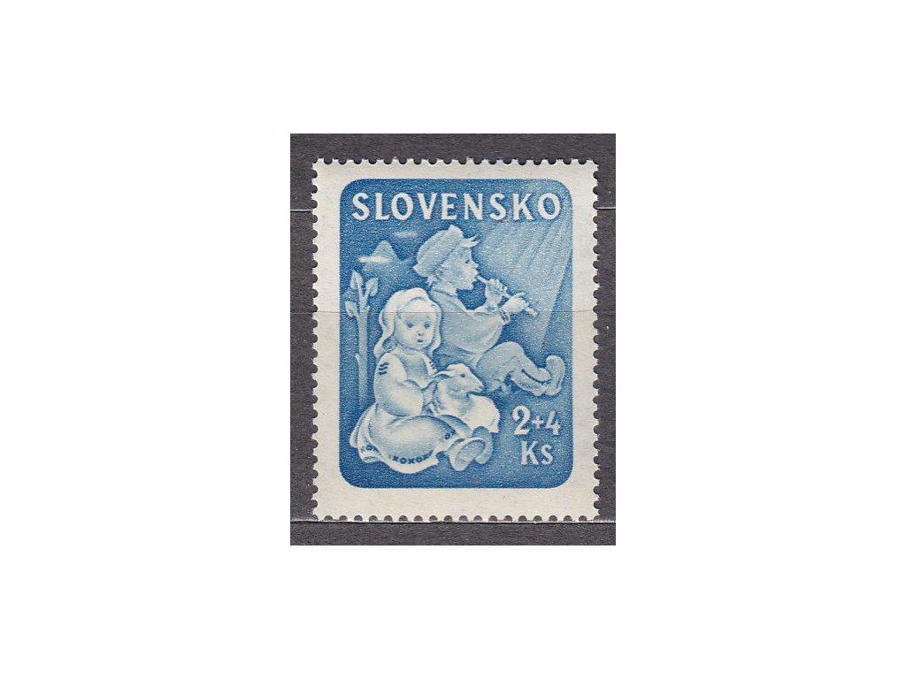 1944, 2Ks Dětem, známka z aršíku, Nr.119, **, ilustrační foto