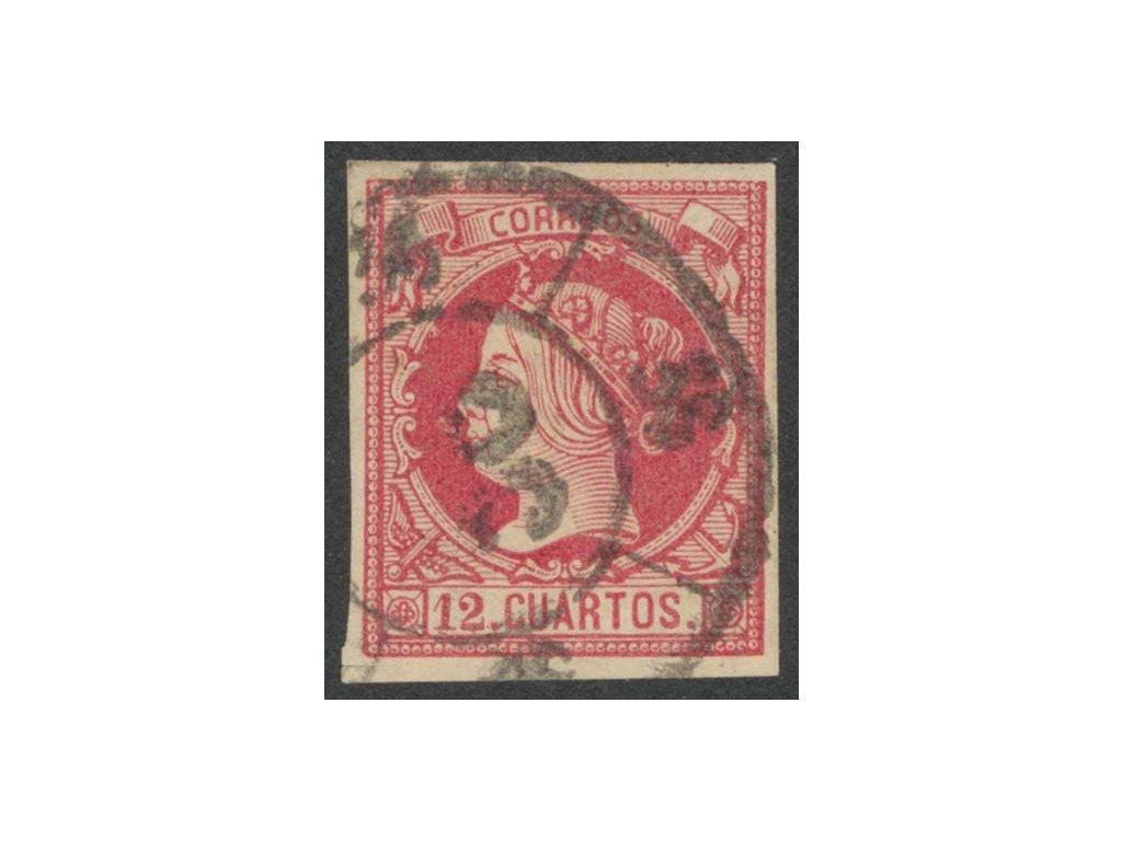 1860, 12Cs Isabella, MiNr.45, razítkované, nastřiženo