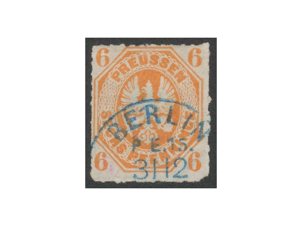 Prusko, 1861, 6Pf Znak, MiNr.15, razítkované
