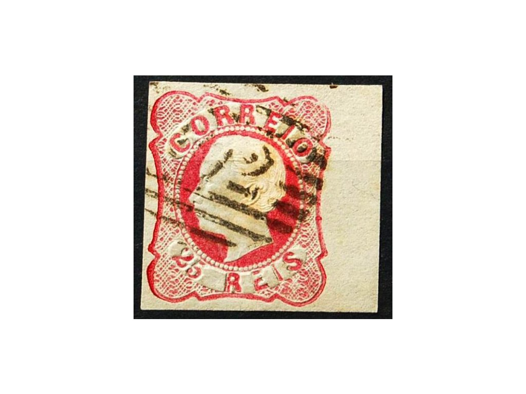1862, 25R Luis, pravý kraj. kus, MiNr.14