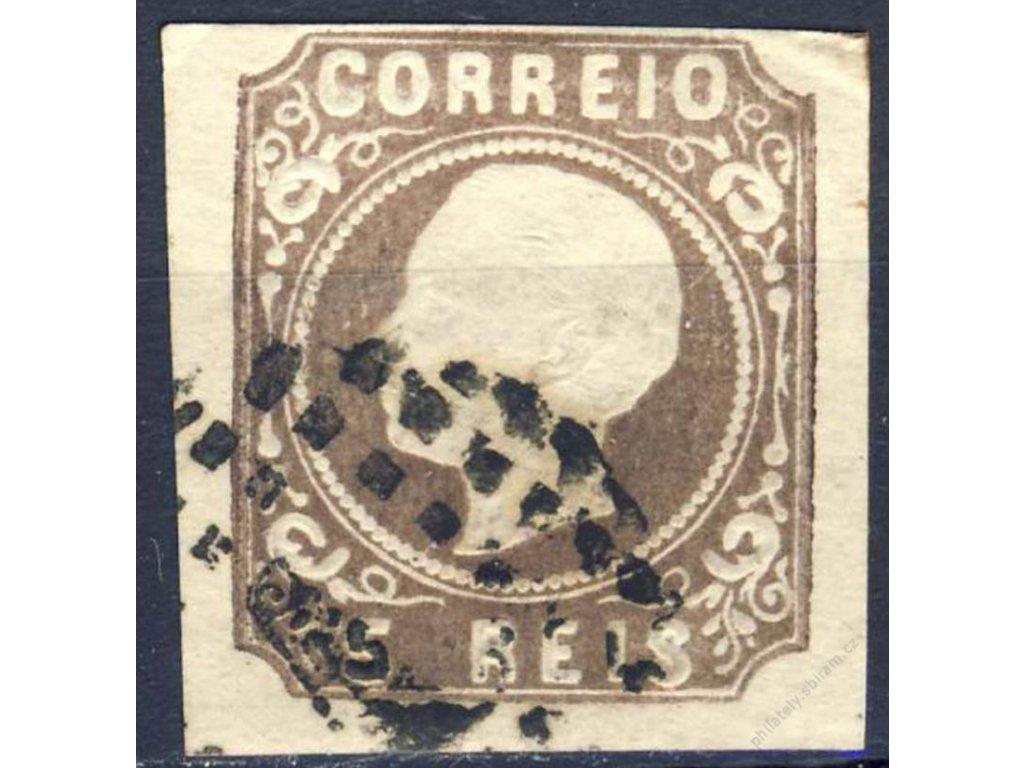 1862, 5R Luis, MiNr.12, razítkované, dv roh
