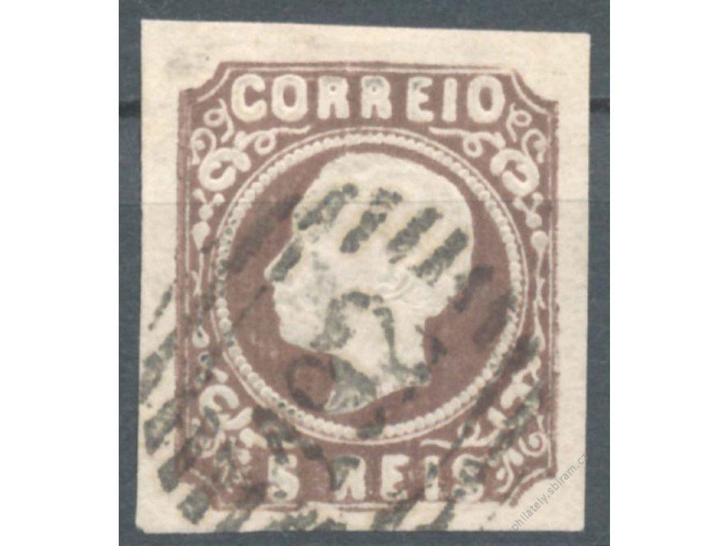 1862, 5R Luis, MiNr.12, razítkované