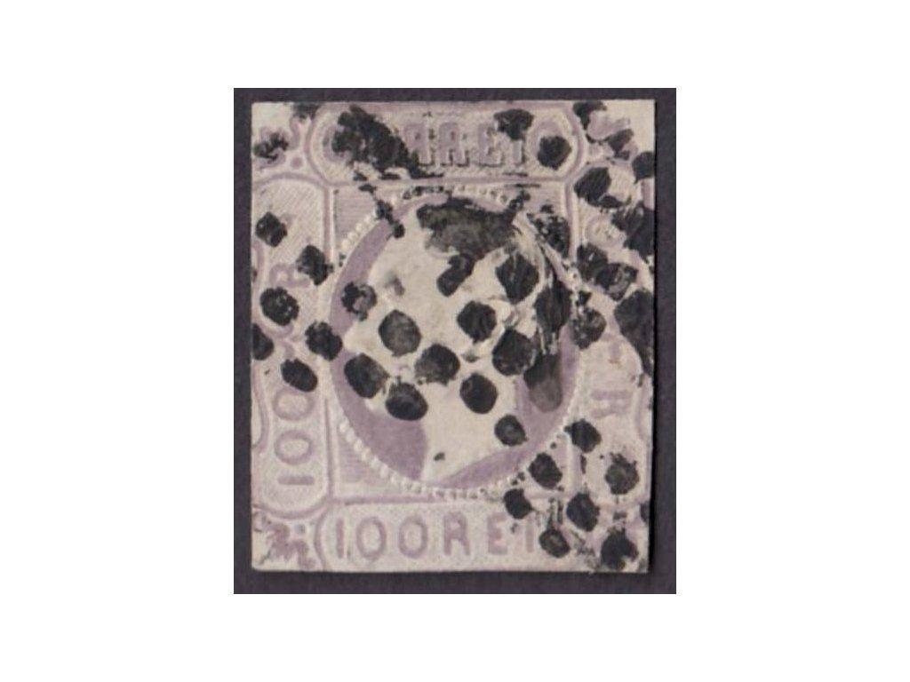 1862, 100R Luis, MiNr.16, razítkované