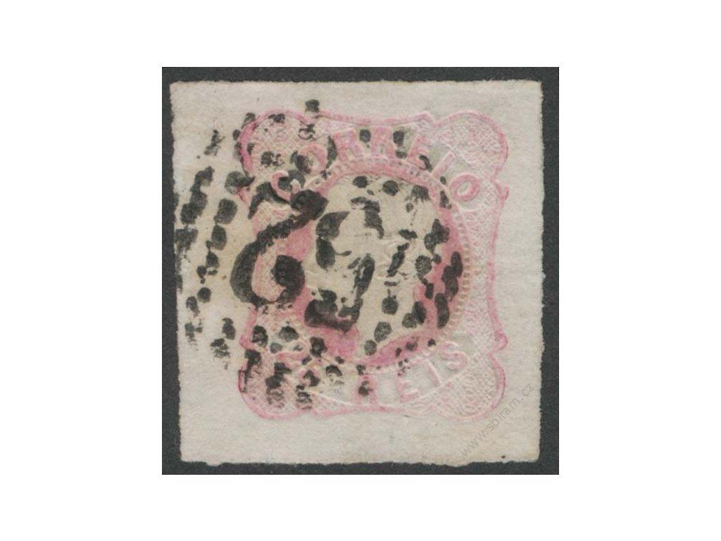 1862, 25R Luis, MiNr.14, razítkované