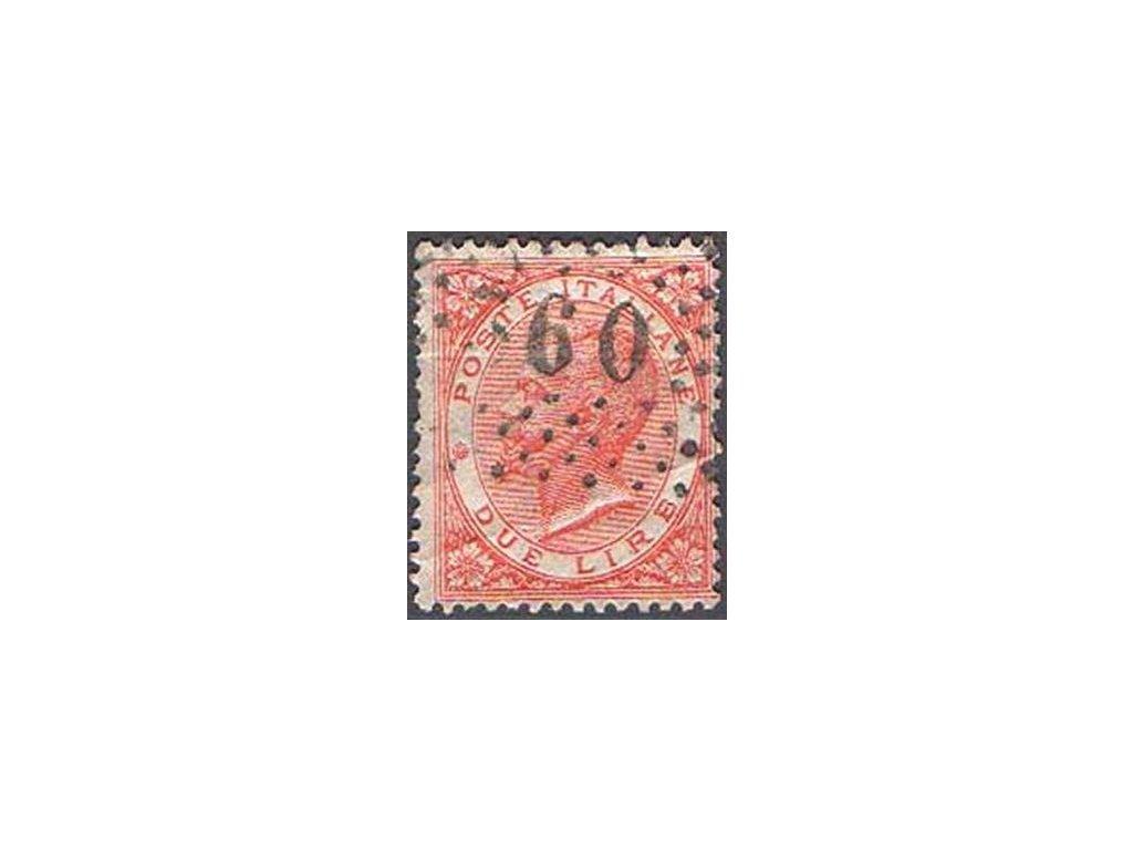 1863, 2L Emanuel, lom, MiNr.22, razítkovaná