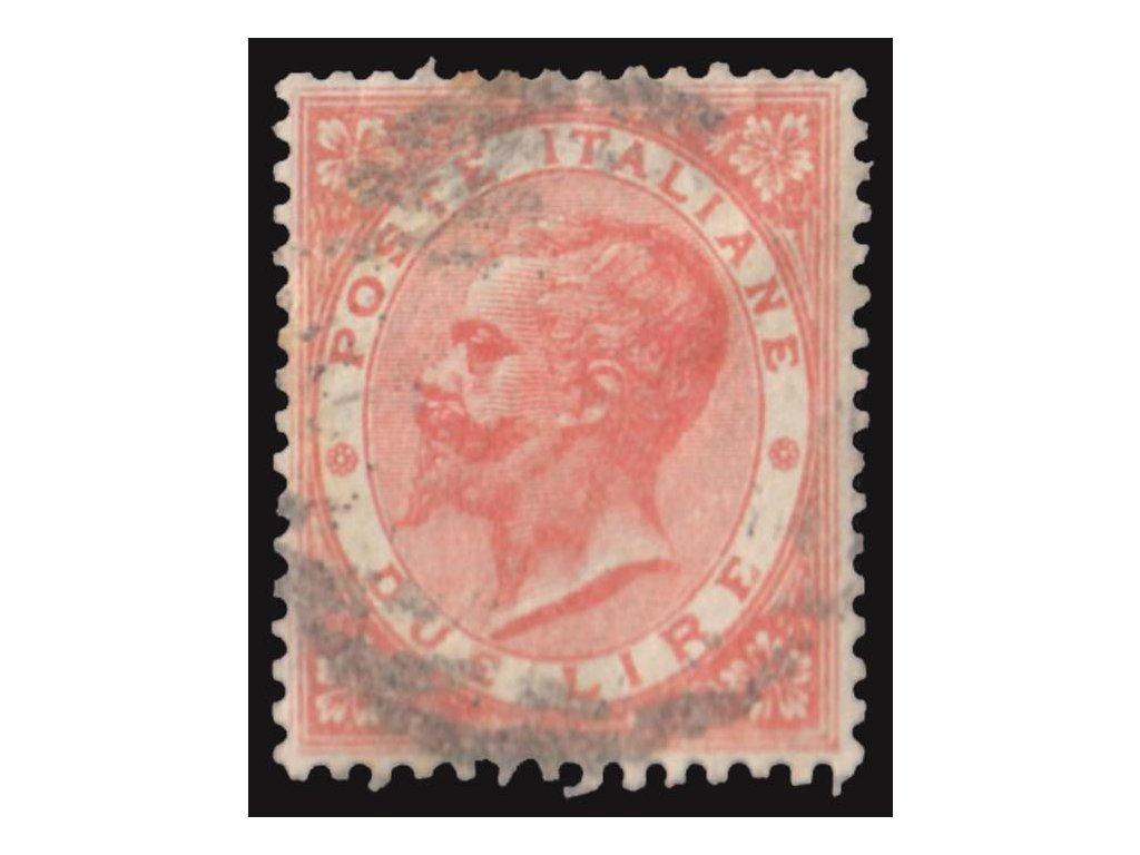 1863, 2L Emanuel, MiNr.22, razítkované, horší jakost
