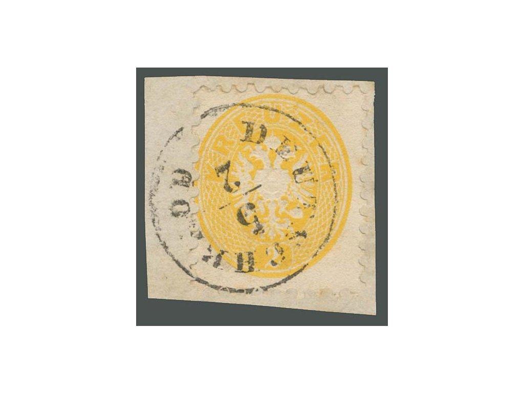 1863, 2Kr Orlíček, výstřižek, MiNr.30, razítkované