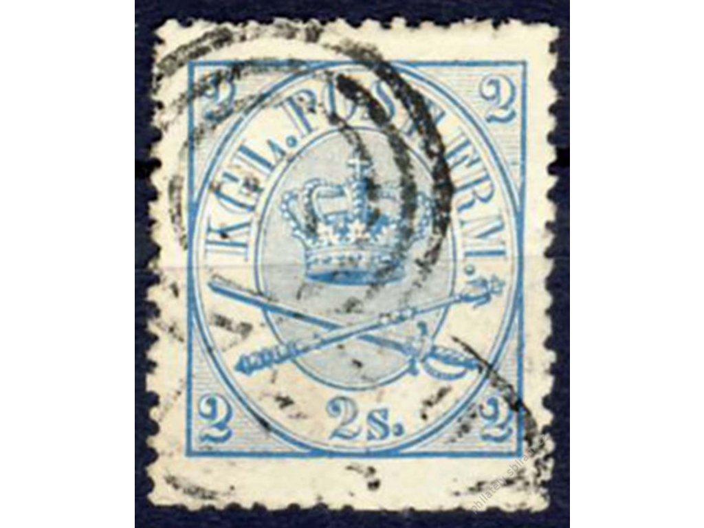 1864, 2S Znak, MiNr.11B, razítkované
