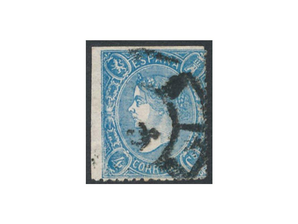 1865, 4Cs Isabella, MiNr.68, razítkované