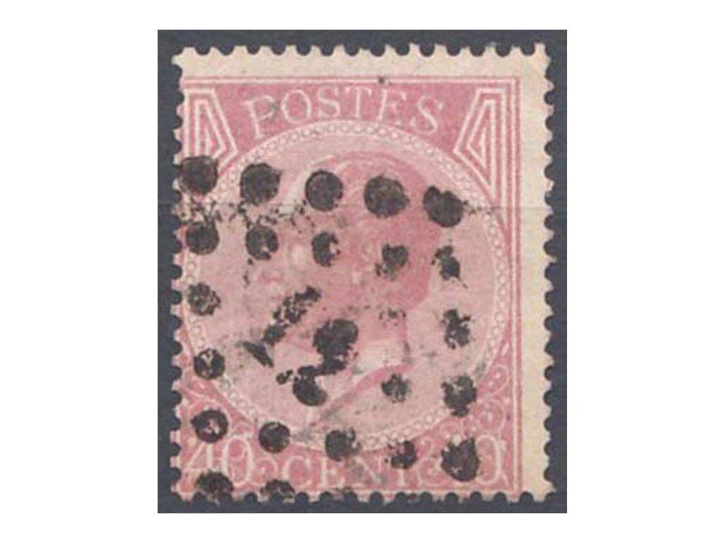 1865, 40C Leopold, MiNr.17, razítkované