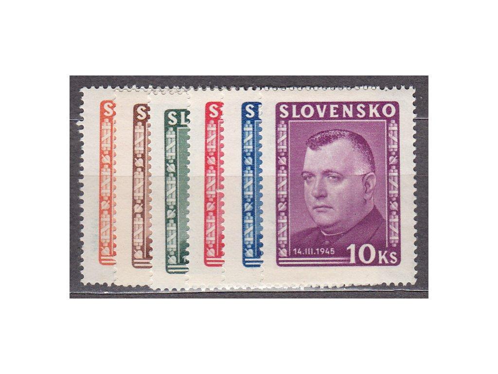 1945, 1-10Ks Tiso, série, Nr.120-5, **, ilustrační foto
