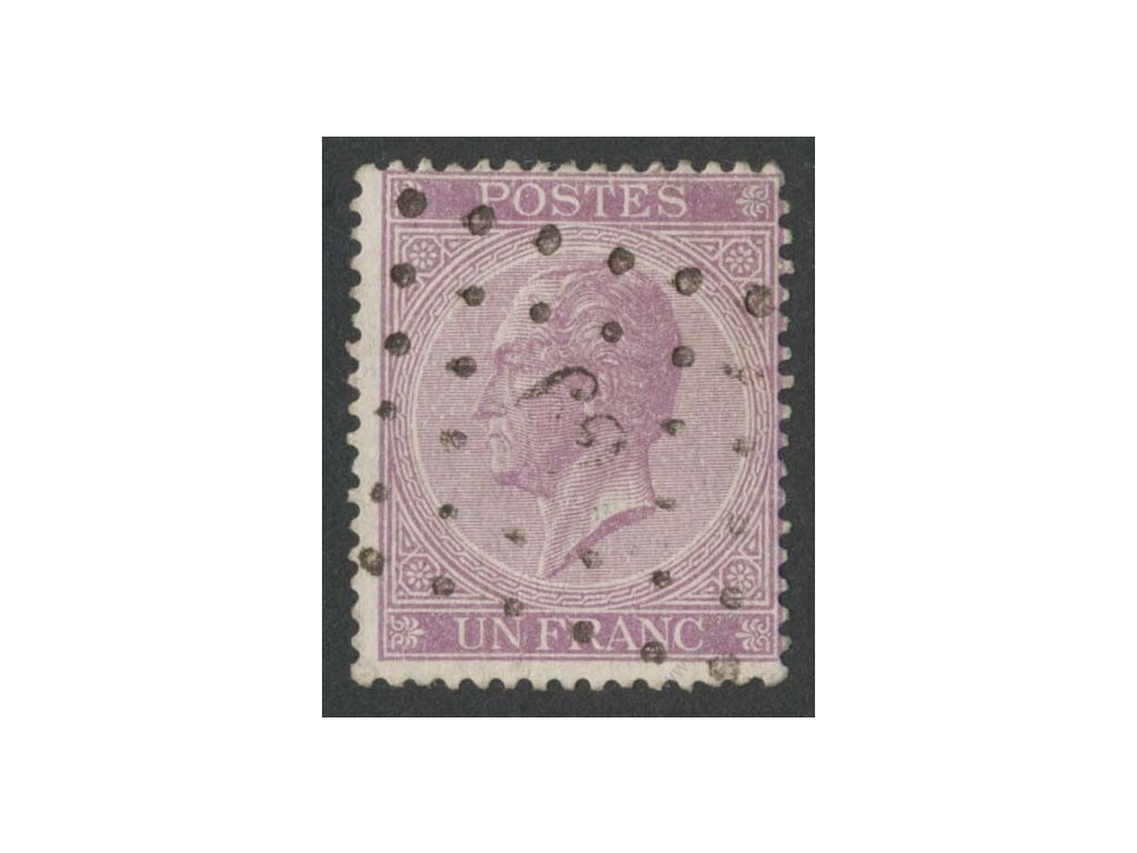 1865, 1Fr Leopold, MiNr.18, razítkované