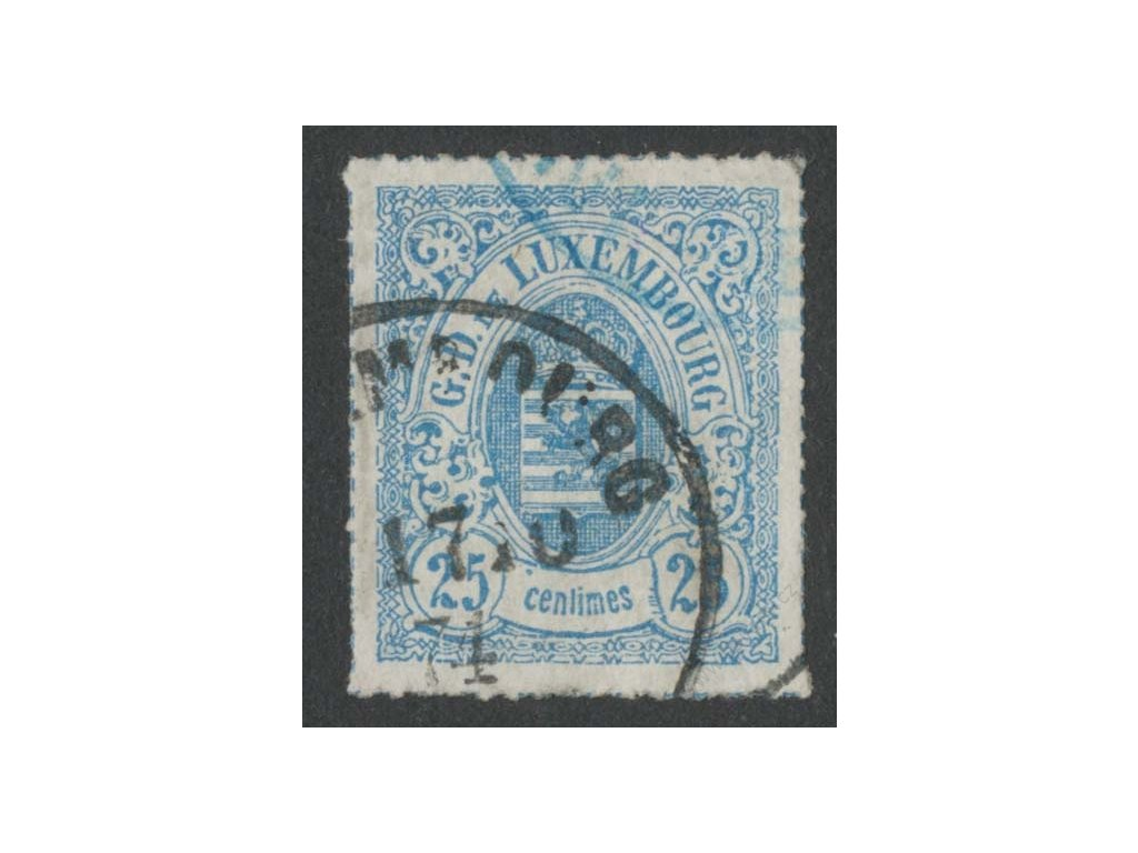 1865, 25C Znak, MiNr.20, razítkované