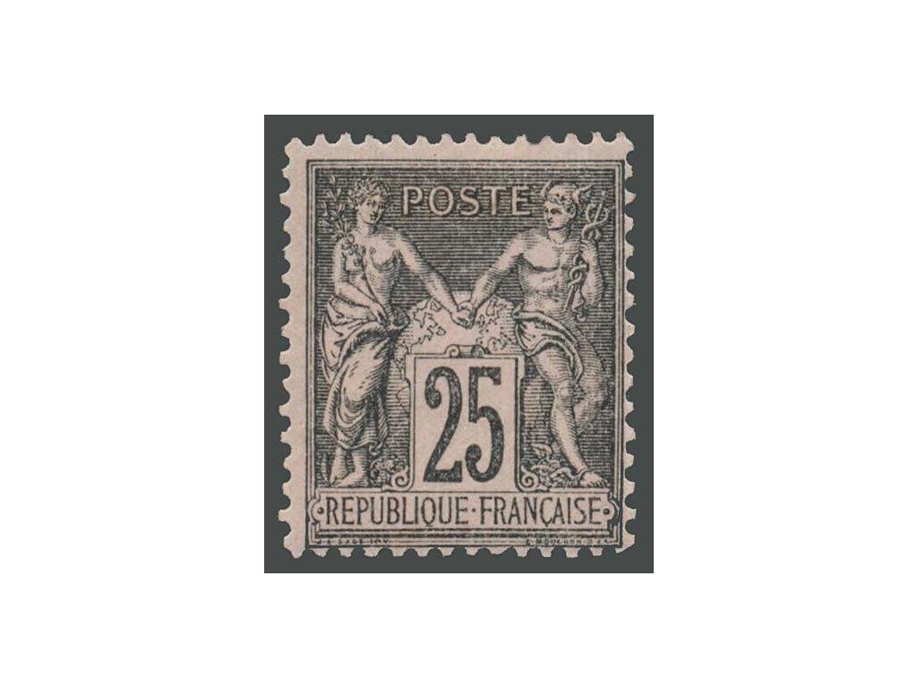 1866, 25C Alegorie, MiNr.80, * po nálepce