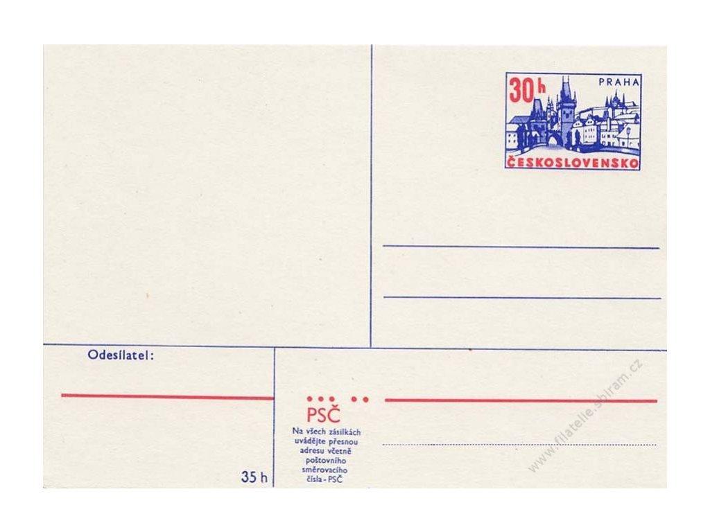 CDV 166 Praha, světlejší papír