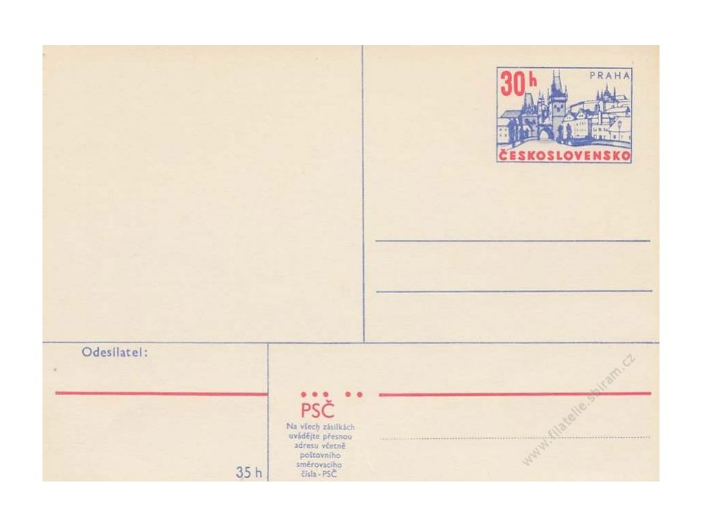 CDV 166 Praha, tmavší papír