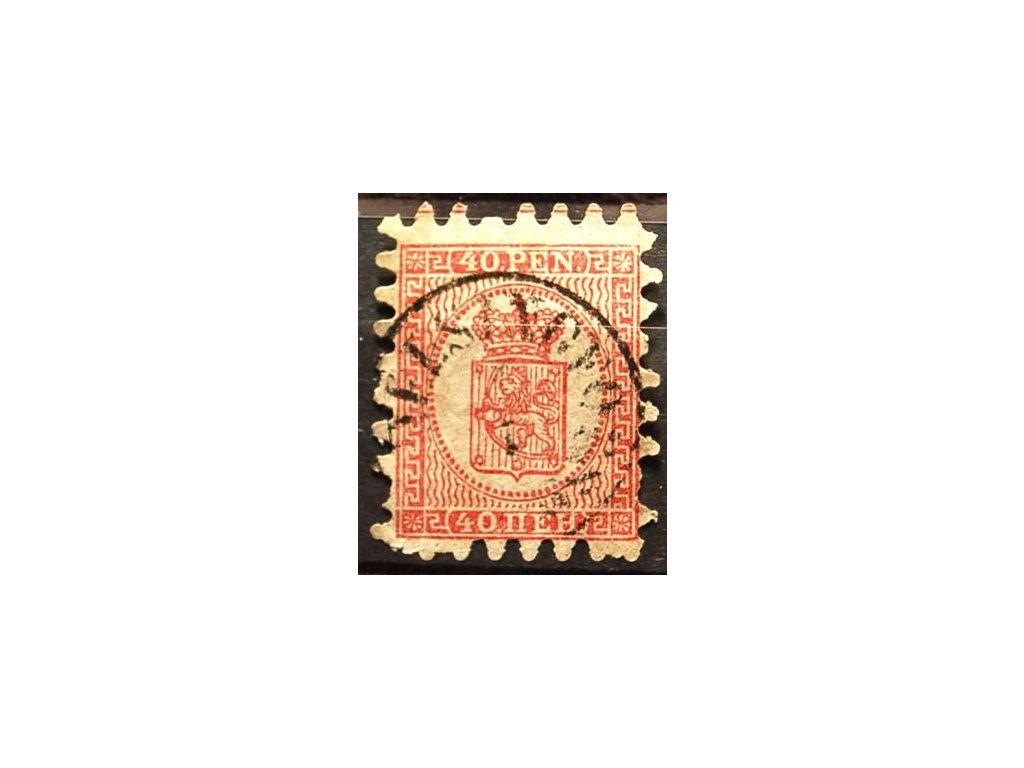 1866, 40P Znak, chybí 2 zuby, MiNr.9